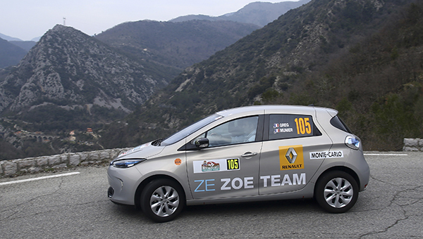 renault zoe takes top four places in zenn monte carlo rally zap map. Black Bedroom Furniture Sets. Home Design Ideas