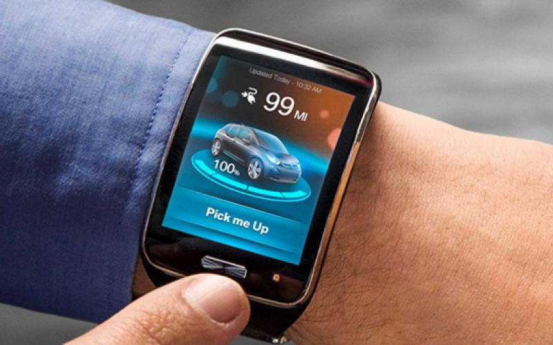 bmw develops -driving i3 controlled smartwatch