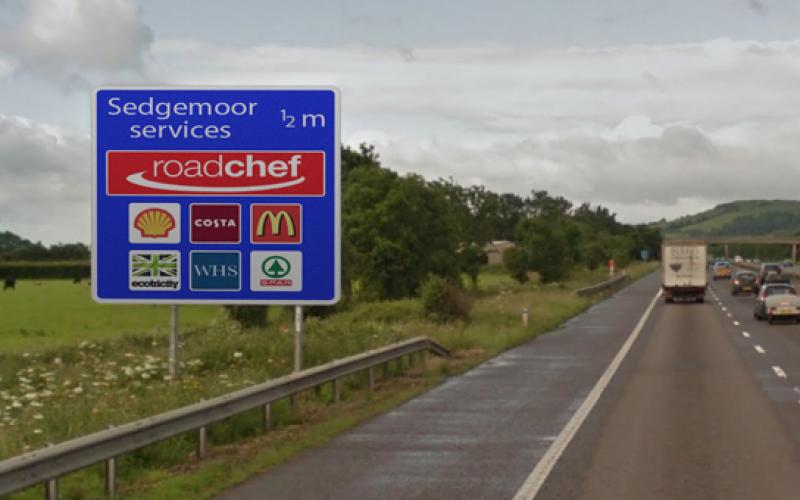 motorway signs show charge point sites