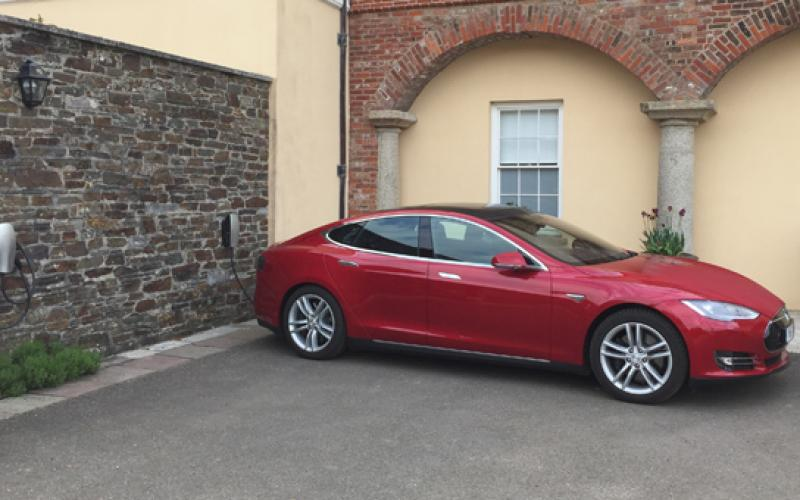 pentillie castle signs tesla destination charging