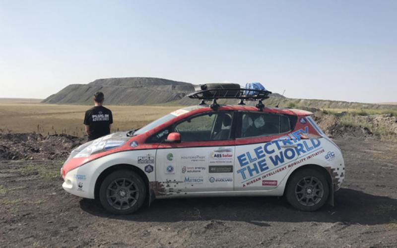 nissan leaf completes 8,000 mile mongol rally