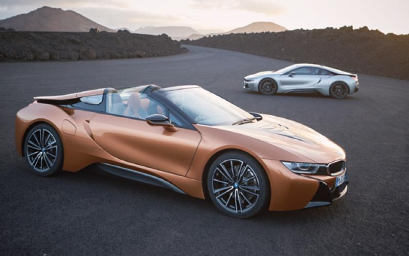 bmw launches i8 roadster