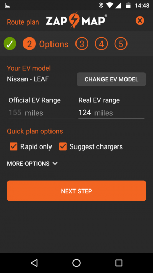 EV route planner - plan your electric journey with Zap-Map's
