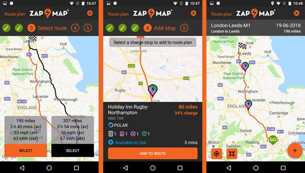 Zap Map Releases New Route Planner Zap Map
