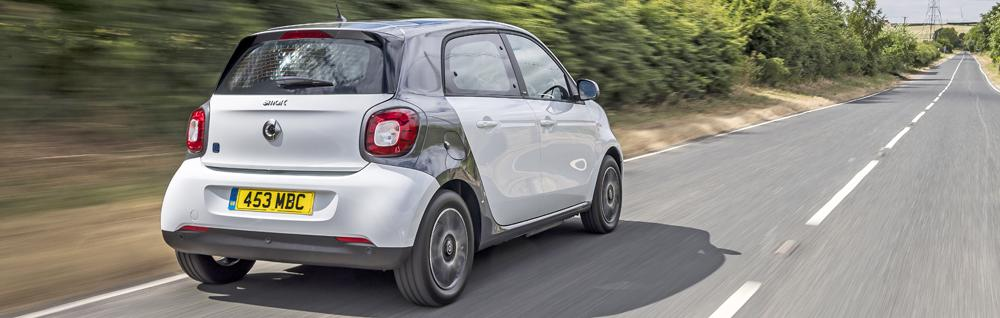smart eq forfour driving