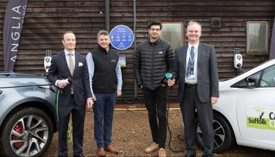 open fast ev charging network plug suffolk launched