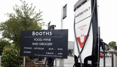 booths rolls instavolt rapid chargers