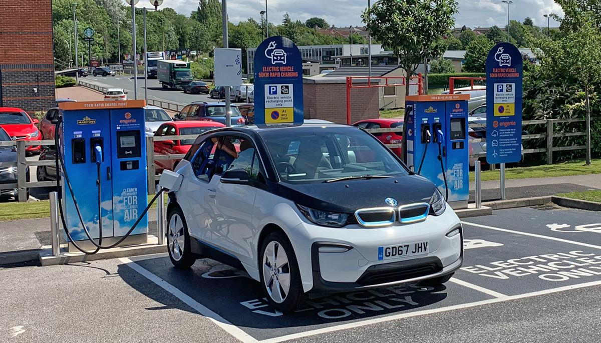 engenie set double number rapid chargers cardiff