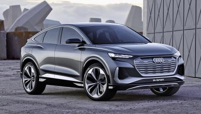 audi q4 sportback tron previews production model due 2021